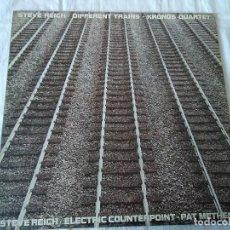 Discos de vinilo: 57-LP STEVE REICH, DIFFERENT TRAINS, 1989. Lote 210098346