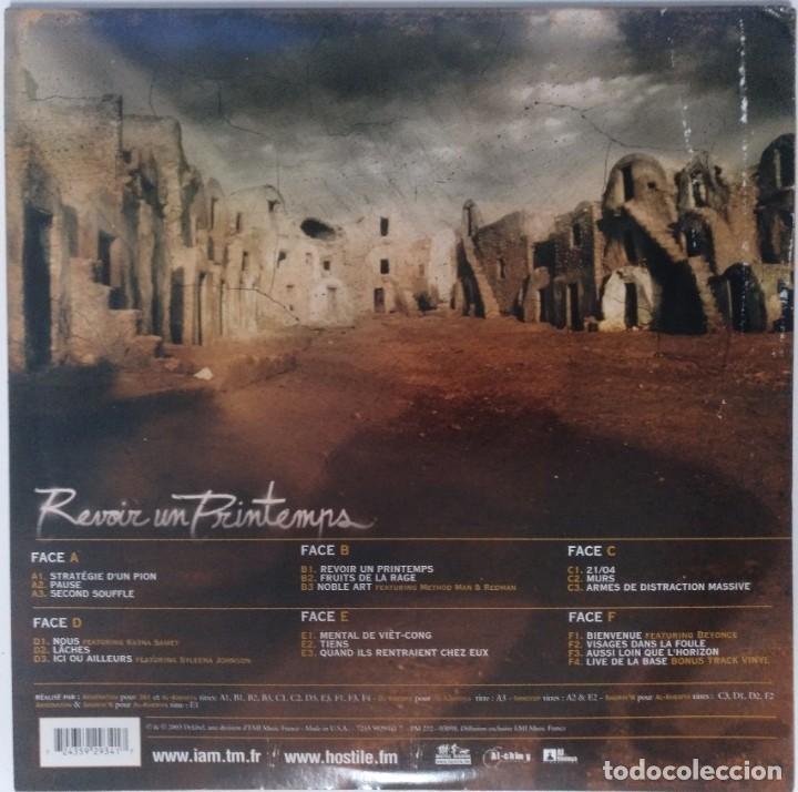 "Discos de vinilo: IAM - REVOIR UN PRINTEMPS [FRANCIA HIP HOP / RAP] [EDICIÓN ORIGINAL LIMITADA 3LP 12"" 33RPM][2003] - Foto 3 - 284648923"