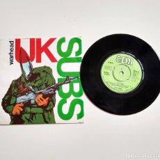 "Discos de vinilo: UK SUBS. WARHEAD. 7"". Lote 210100402"