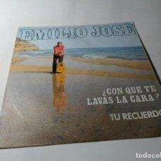 Discos de vinilo: SINGLE / VINILO - EMILIO JOSÉ – ¿CON QUE TE LAVAS LA CARA? / TU RECUERDO. Lote 210101302