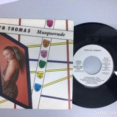 Discos de vinilo: EVELIN TOMAS - MASQUERADE (SINGLE PROMO). Lote 210101488