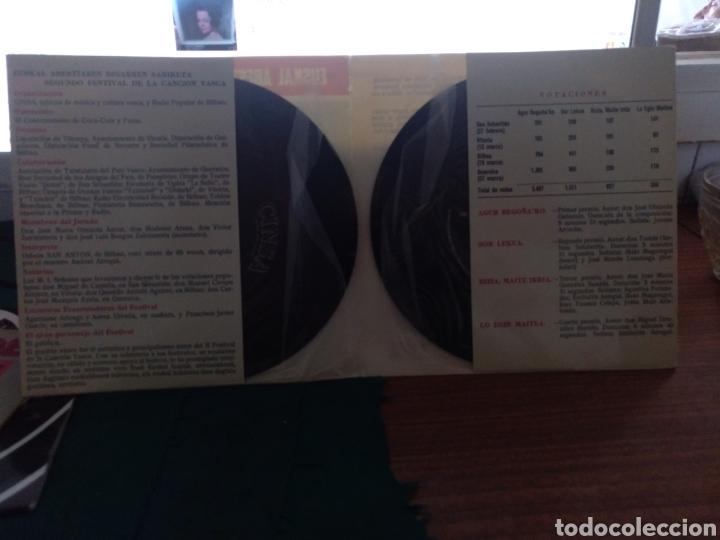 Discos de vinilo: II festival de la canción vasca cinsa Bilbao 1966 - Foto 2 - 210109338