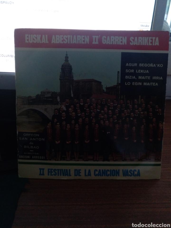 II FESTIVAL DE LA CANCIÓN VASCA CINSA BILBAO 1966 (Música - Discos de Vinilo - EPs - Otros estilos)