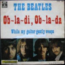 "Discos de vinilo: THE BEATLES – OB-LA-DI, OB-LA-DA – VINYL, 7"", SINGLE – 1969 – BUEN ESTADO. Lote 210110412"