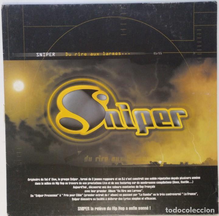 """SNIPER - DU RIRE AUX LARMES [FRANCIA HIP HOP / RAP] [EDICIÓN ORIGINAL MX 12"""" 33RPM][2000] (Música - Discos de Vinilo - Maxi Singles - Rap / Hip Hop)"""