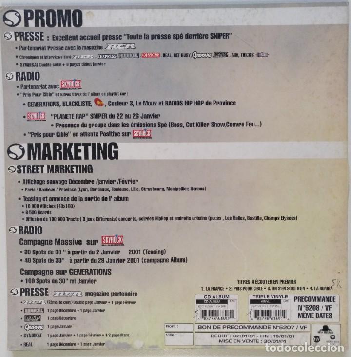 "Discos de vinilo: SNIPER - DU RIRE AUX LARMES [FRANCIA HIP HOP / RAP] [EDICIÓN ORIGINAL MX 12"" 33RPM][2000] - Foto 2 - 210111508"