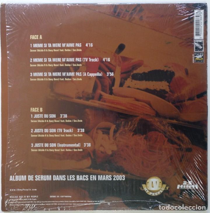 """Discos de vinilo: SERUM Ft. DADOO - MEME SI TA MERE [FRANCIA HIP HOP / RAP] [EDICIÓN ORIGINAL MX 12"""" 33RPM] [[2003]] - Foto 2 - 210115080"""