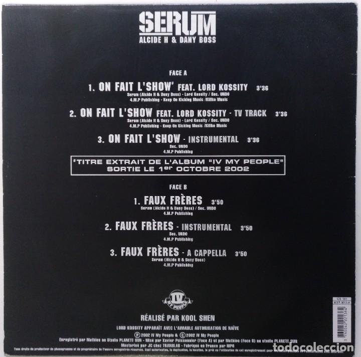 "Discos de vinilo: SERUM Ft. LORD KOSSITY - ON FAIT [FRANCIA HIP HOP / RAP] [EDICIÓN ORIGINAL MX 12"" 33RPM] [[2002]] - Foto 2 - 210115640"