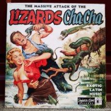 Discos de vinilo: THE MASSIVE ATTACK OF THE LIZARDS CHA CHA. EXOTIC LATÍN MUSIC. DISCO VINILO NUEVO PRECINTADO. Lote 210116983