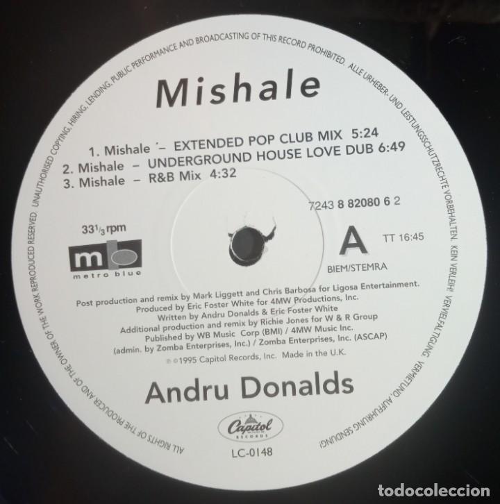 Discos de vinilo: ANDRU DONALDS - mishale - MAXI UK 33 1995 - CAPITOL - Foto 3 - 210125870