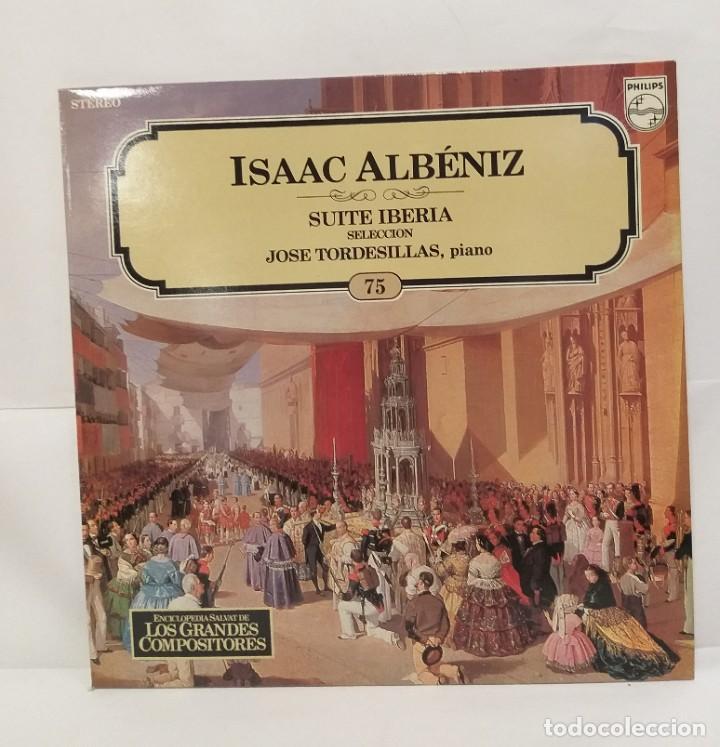 ISAAC ALBÉNIZ LP 1982 SUITE IBERIA Nº 75 ENCICLOPEDIA SALVAT DE LOS GRANDES COMPOSITORES. (Música - Discos - LP Vinilo - Clásica, Ópera, Zarzuela y Marchas)