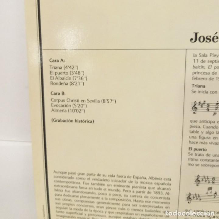 Discos de vinilo: ISAAC ALBÉNIZ LP 1982 SUITE IBERIA Nº 75 ENCICLOPEDIA SALVAT DE LOS GRANDES COMPOSITORES. - Foto 3 - 210131083