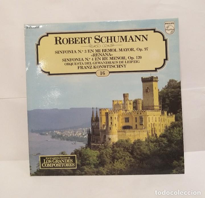 ROBERT SCHUMANN RENATA LP 1981 Nº16 ENCICLOPEDIA SALVAT DE LOS GRANDES COMPOSITORES. (Música - Discos - LP Vinilo - Clásica, Ópera, Zarzuela y Marchas)