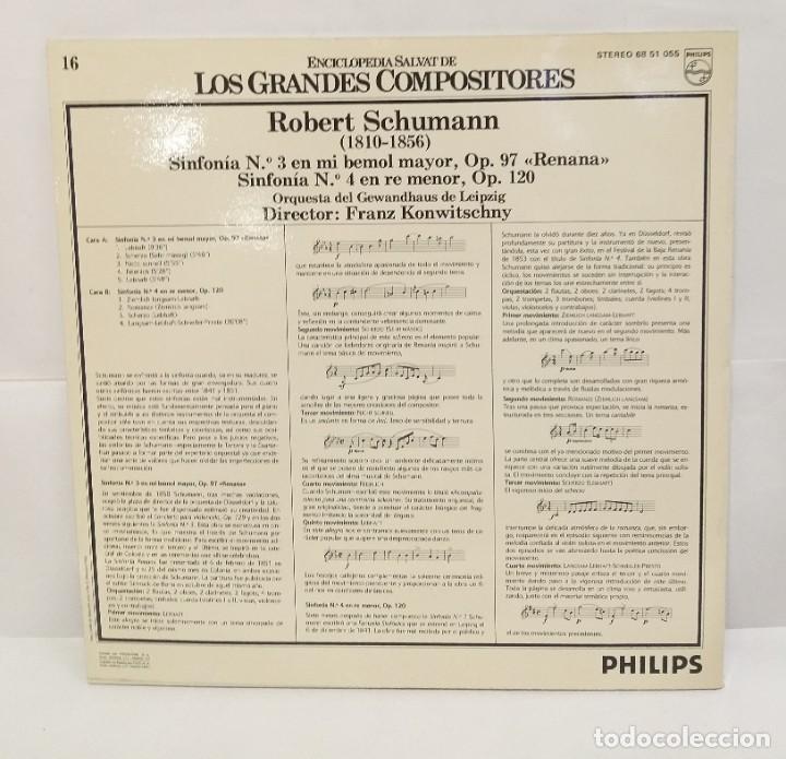 Discos de vinilo: ROBERT SCHUMANN RENATA LP 1981 Nº16 ENCICLOPEDIA SALVAT DE LOS GRANDES COMPOSITORES. - Foto 2 - 210133730