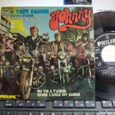 Discos de vinilo: JOHNNY HALLYDAY EP A TOUT CASSER + 3 ESPAÑA 1968. Lote 210141487