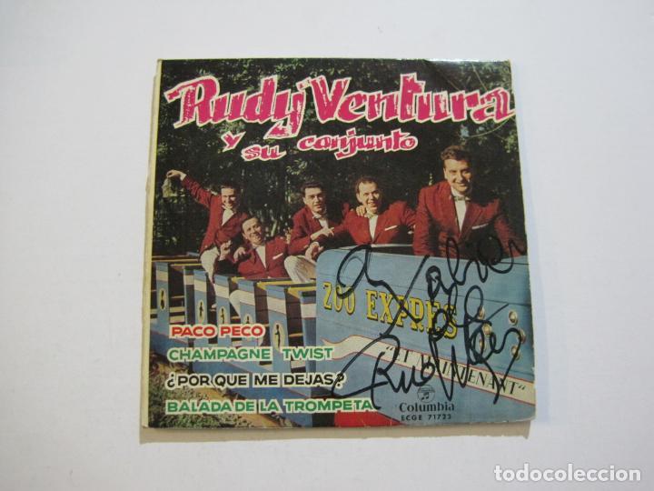 Discos de vinilo: RUDY VENTURA Y SU CONJUNTO-DISCO FIRMADO-COLUMBIA RECORDS-VER FOTOS-(V-21.041) - Foto 2 - 210151241