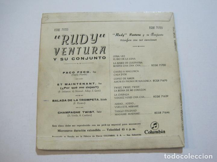 Discos de vinilo: RUDY VENTURA Y SU CONJUNTO-DISCO FIRMADO-COLUMBIA RECORDS-VER FOTOS-(V-21.041) - Foto 6 - 210151241