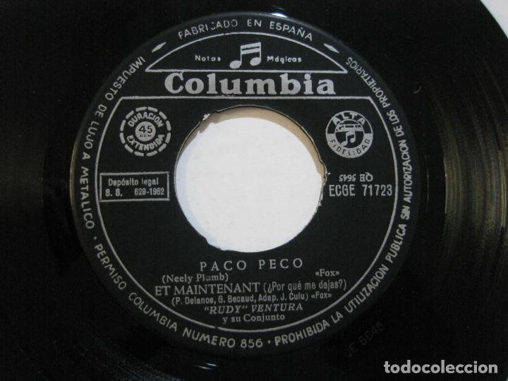 Discos de vinilo: RUDY VENTURA Y SU CONJUNTO-DISCO FIRMADO-COLUMBIA RECORDS-VER FOTOS-(V-21.041) - Foto 8 - 210151241