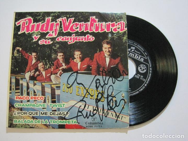 RUDY VENTURA Y SU CONJUNTO-DISCO FIRMADO-COLUMBIA RECORDS-VER FOTOS-(V-21.041) (Música - Discos de Vinilo - EPs - Solistas Españoles de los 50 y 60)