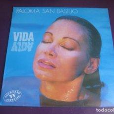 Discos de vinilo: PALOMA SAN BASILIO – VIDA LP HISPAVOX 1988 SIN APENAS USO- BALADA MELODICA LATINA. Lote 210163200