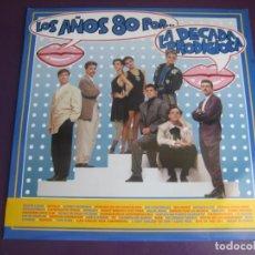 Discos de vinilo: LOS AÑOS 80 POR... LA DÉCADA PRODIGIOSA LP HISPAVOX 1988 - LEVES SEÑALES DE USO. Lote 210164612