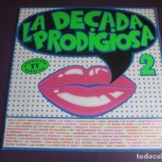 Discos de vinilo: LA DÉCADA PRODIGIOSA II LP HISPAVOX 1986 - LEVES SEÑALES DE USO. Lote 210164686