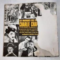 Discos de vinilo: LES MUSIQUES DE FILM DE CHARLIE CHAPLIN. SLD 837. FRANCIA 1972. DISCO VG++. CARÁTULA MUY DETERIORADA. Lote 210168826