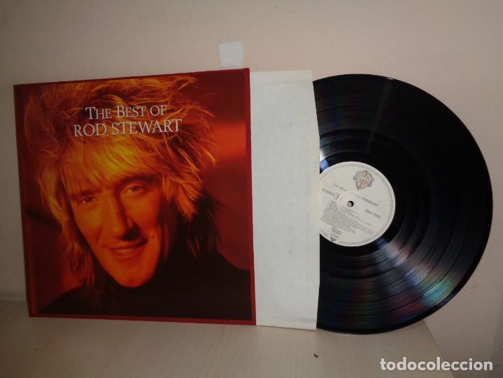 ROD STEWART--THE BEST OF--MADE IN GERMANY -WB RECORDS- 1977-1981-1988- (Música - Discos de Vinilo - Maxi Singles - Pop - Rock Extranjero de los 70)