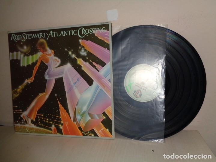 ROD STEWARR -ATLANTIC CROSSING- HISPAVOX- 1975- MADRID - (Música - Discos de Vinilo - Maxi Singles - Pop - Rock Extranjero de los 70)