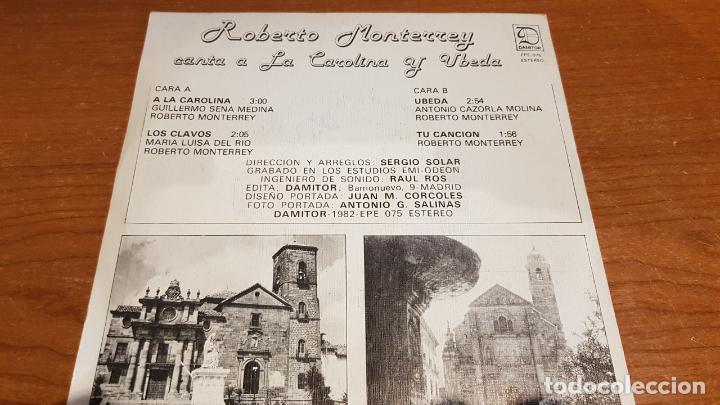Discos de vinilo: ROBERTO MONTERREY CANTA A LA CAROLINA Y ÚBEDA / EP - DAMITOR-1982 / MBC. ***/*** DIFÍCIL. - Foto 2 - 210194412