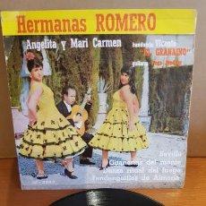 Discos de vinilo: HERMANAS ROMERO - ANGELITA Y MARI CARMEN / SEVILLA / EP - SAEF-1961 / MBC. ***/*** DIFÍCIL. Lote 210194798