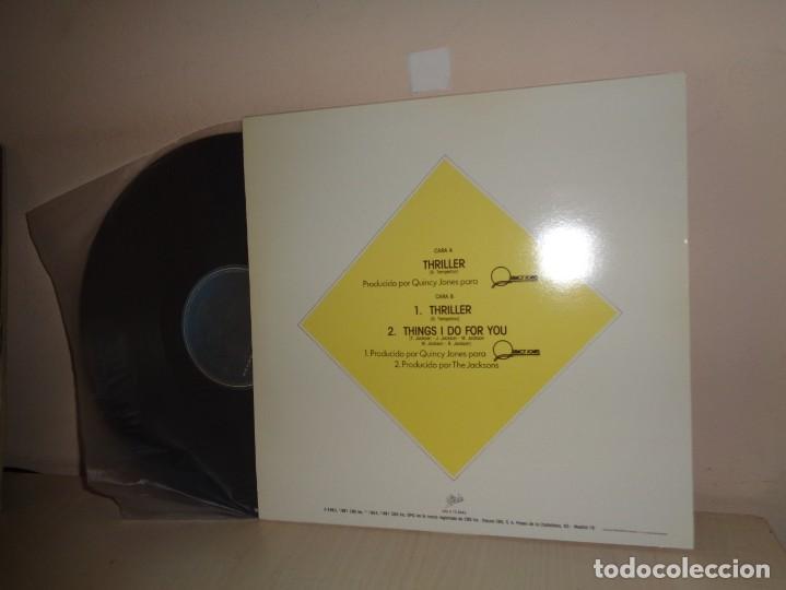 Discos de vinilo: MAXI SINGLE -MICHAEL JACKSON -THRILLER- 1983-1981- EPIC CBS MADRID - - Foto 2 - 210195020