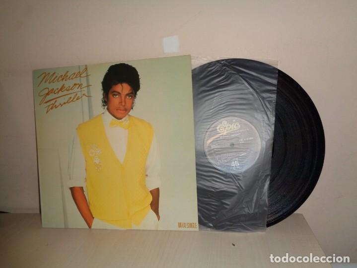 MAXI SINGLE -MICHAEL JACKSON -THRILLER- 1983-1981- EPIC CBS MADRID - (Música - Discos de Vinilo - Maxi Singles - Pop - Rock Extranjero de los 70)