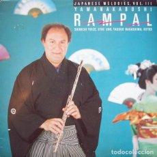 Discos de vinilo: JEAN-PIERRE RAMPAL - YAMANAKABUSHI : JAPANESE MELODIES, VOL III - CBS 73677 - 1982 - EDICIÓN HOLANDA. Lote 210203686