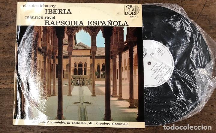 MAURICE RAVEL RAPSODIA ESPAÑOLA. CLAUDE DEBUSSY IBERIA. ORLADOR, 1964 (Música - Discos de Vinilo - Maxi Singles - Clásica, Ópera, Zarzuela y Marchas)