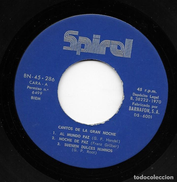 Discos de vinilo: Cantores Del Rey / Trio Ebenezer - El Canto De La Gran Noche - Spiral DS-6001 - 1970 - Foto 3 - 210204247