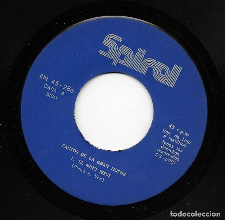 Discos de vinilo: Cantores Del Rey / Trio Ebenezer - El Canto De La Gran Noche - Spiral DS-6001 - 1970 - Foto 4 - 210204247