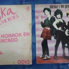Discos de vinilo: ALASKA Y LOS PEGAMOIDES. PRECIOSO LOTE DE 2 EPS DE VINILO. Lote 210205347