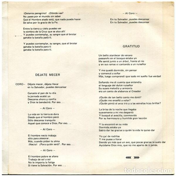 Discos de vinilo: Jorge Roig - Me Siento Feliz / Déjate Mecer / Gratitud / La Sombra De La Cruz - Victoria AMS159 - Foto 2 - 210218935