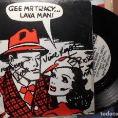 Discos de vinilo: GEE MR TRACY AUTOGRAFO FIRMADO SIGNED ORIGINAL 1986 SPANISH CONCERT VALENCIA 1986. Lote 210219123