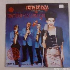 Discos de vinilo: CRAZY EDDIE. NENA DE IBIZA. MAXISINGLE. MX-252. 1990. DEDICADO. DISCO VG++. CARÁTULA VG++.. Lote 210224186