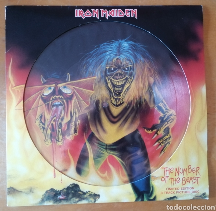IRON MAIDEN - THE NUMBER OF THE BEAST (Música - Discos de Vinilo - Maxi Singles - Heavy - Metal)