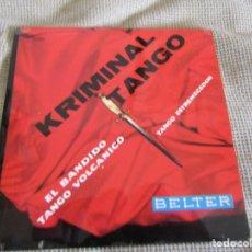 """Discos de vinilo: GIANNI Y SU CONJUNTO - KRIMINAL TANGO EP 7"""" BELTER 50.321. Lote 210228621"""