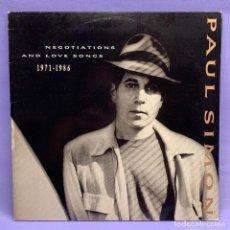 Discos de vinilo: LP PAUL SIMON - NEGOTIATIONS AND LOVE SONGS 1971-1986. Lote 210230735