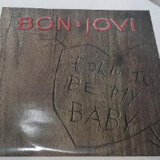 Discos de vinilo: BON JOVI -BORN TO BE MY BABY- (1988) MAXI-SINGLE. Lote 210243930