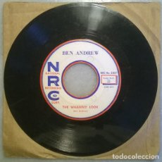 Discos de vinilo: BEN ANDREW. THE WHAMMY LOOK/ I FEEL OUT OF LOVE WITH LOVE. NRC, USA 1959 SINGLE. Lote 210254712