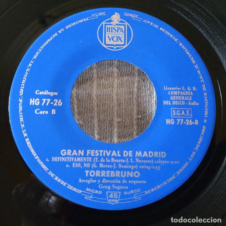 Discos de vinilo: TORREBRUNO - GRAN FESTIVAL DE MADRID - CON PERMISO DE PAPA +3 EP HISPAVOX AÑO 1963 ESTADO COMO NUEVO - Foto 4 - 210263233