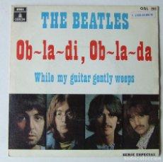 Discos de vinilo: BEATLES OB-LA-DI OB-LA-DA WHILE MY GUITAR GENTLY WEEPS REEDICION OSL 203 1 J 006-04.690 M PERFECTO. Lote 210273272