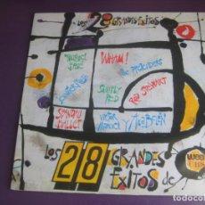 Discos de vinilo: 28 GRANDES EXITOS CBS WEA DOBLE LP 1986 - EUROPE - WHAM - PRINCE - BANGLES - FALCO - A HA - ETC. Lote 210275230