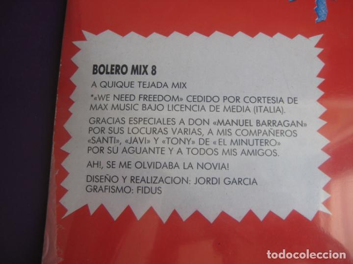 Discos de vinilo: Bolero Mix 8 DOBLE LP BLANCO Y NEGRO 1991 PRECINTADO - ELECTRONICA TECHNO MAKINA HOUSE - Foto 4 - 210275403
